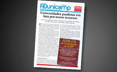 boletim au 19062015 — Universidades paulistas em luta por novos recursos — ADunicamp