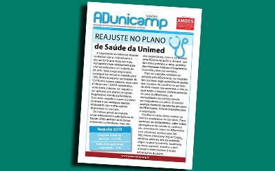 boletim unimed home — Reajuste no Plano de Saúde da Unimed — ADunicamp