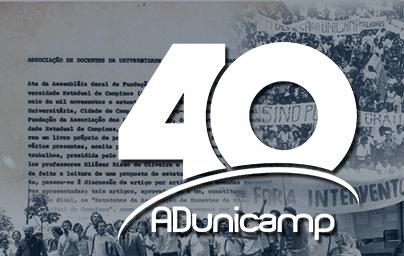 40 home 1 — 40 ANOS - PROGRAMAÇÃO — ADunicamp