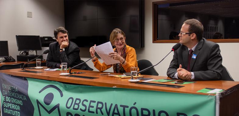 2019 04 16 observatorio lancamento home — Em defesa das universidades, Observatório do Conhecimento é lançado em Brasília com a participação da ADunicamp — ADunicamp