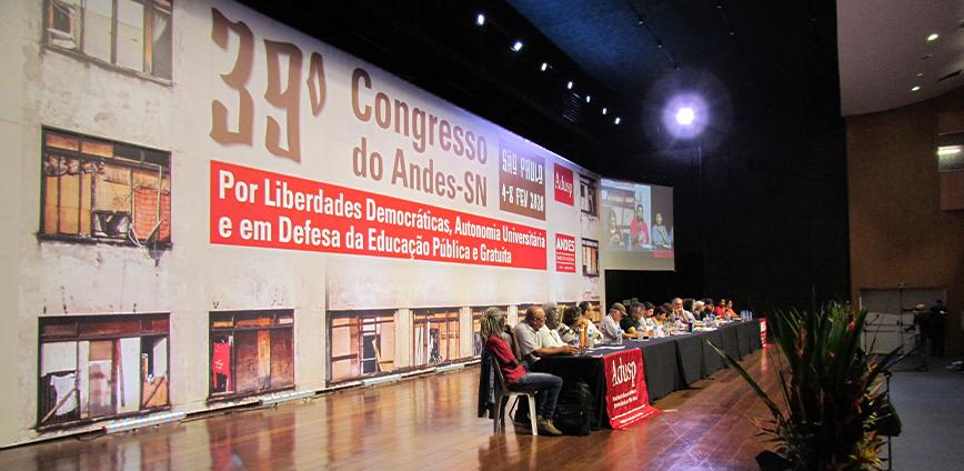 andes 39 congresso — Confira Carta de São Paulo, documento que sintetiza as deliberações do 39˚ Congresso do ANDES-SN — ADunicamp