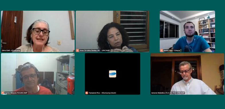 live relatorio — Em live, ADunicamp divulga relatório sobre condições de trabalho docente na Unicamp durante a pandemia — ADunicamp
