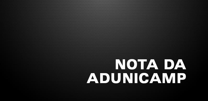 nota — Nota de Solidariedade aos alunos, docentes e demais funcionários da Faculdade de Direito de São Bernardo do Campo — ADunicamp