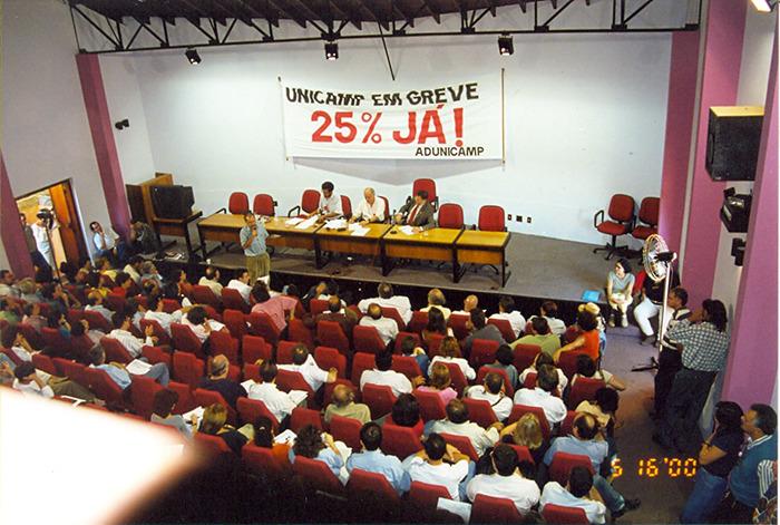 Assembleia de Docentes em 15.06.2000 — DATA-BASE 2021: A HISTÓRIA APONTA QUE SOMENTE COM MOBILIZAÇÃO AS REIVINDICAÇÕES SERÃO CONQUISTADAS — ADunicamp